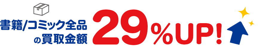 クーポンコードのご利用で書籍/コミックの買取金額29%UP!