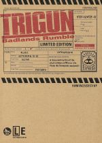 劇場版トライガン「TRIGUN Badlands Rumble」(初回限定版)((スペシャルコミックス、削除・修正シーン絵コンテ集、特典DVD1枚、外箱付))(通常)(DVD)