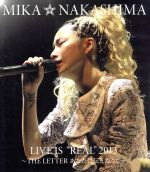 """MIKA NAKASHIMA LIVE IS""""REAL""""2013~THE LETTER あなたに伝えたくて~(Blu-ray Disc)(BLU-RAY DISC)(DVD)"""