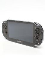 【箱説なし】PlayStation Vita 3G/Wi-Fiモデル:クリスタル・ブラック(PCH1100AB01)(USBケーブル、ACアダプター、電源コード付)(ゲーム)