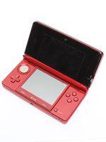 【箱説なし】ニンテンドー3DS:フレアレッド(CTRSRAAA)(タッチペン1本(本体付属)、ACアダプター、SDメモリーカード(2GB)付)(ゲーム)