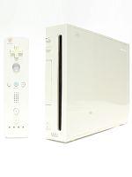 【箱説なし】Wii:シロ(リモコン、ヌンチャク、ACアダプタ、AVケーブル、センサーバー付)(ゲーム)