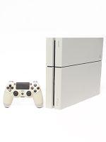 【箱説なし】PlayStation4 グレイシャー・ホワイト(CUH1200AB02)(ワイヤレスコントローラ、電源コード、HDMIケーブル、USBケーブル付)(ゲーム)